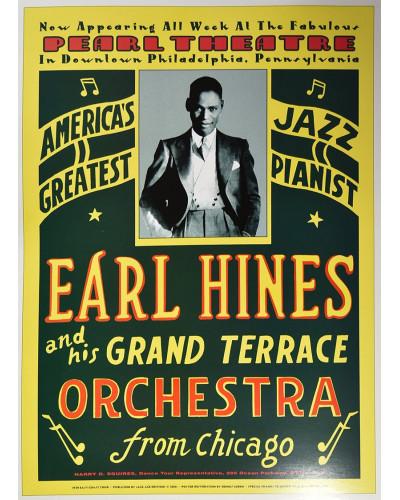 Koncertní plakát Earl Hines, Pearl Theatre, Philadelphia, 1929