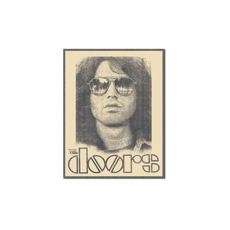 Plechová cedule DOORS - Morrison Shades 40 cm x 32 cm