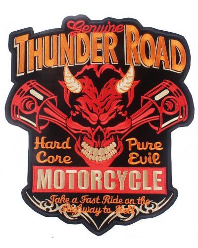 Moto nášivka na záda Thunder Road- XXL