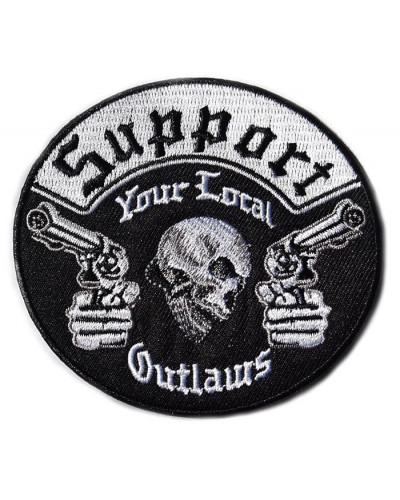 Moto nášivka Support your local Outlaw 9 cm x 8 cm