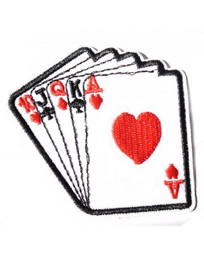 Moto nášivka Cards 6 cm x 7 cm
