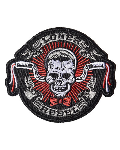 Moto nášivka Loner Rebel 11 cm x 9 cm