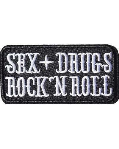 Moto nášivka Sex Drugs Rock and Roll 9 cm x 4 cm