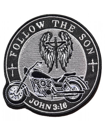 Moto nášivka Follow the Son 10cm