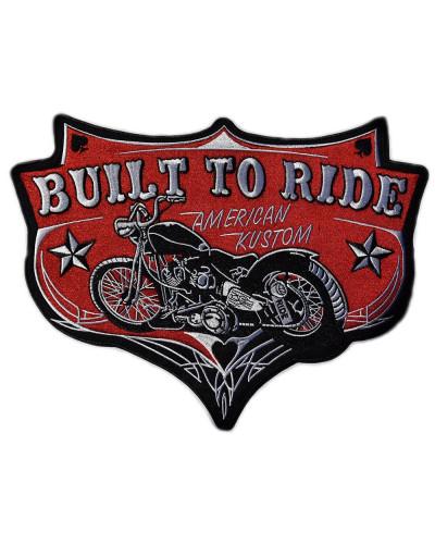 Moto nášivka BS Built to Ride XXL na záda