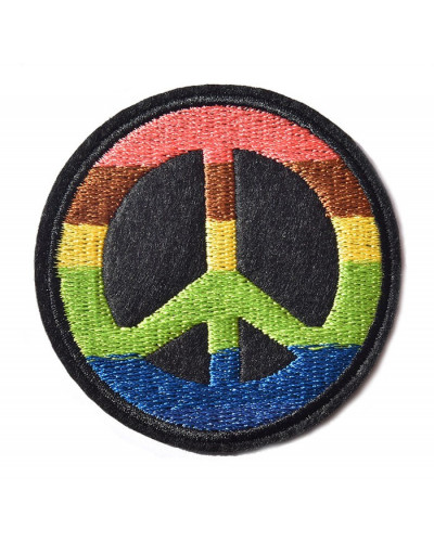 Nášivka Hippie Peace Rainbow sign 6,5 cm