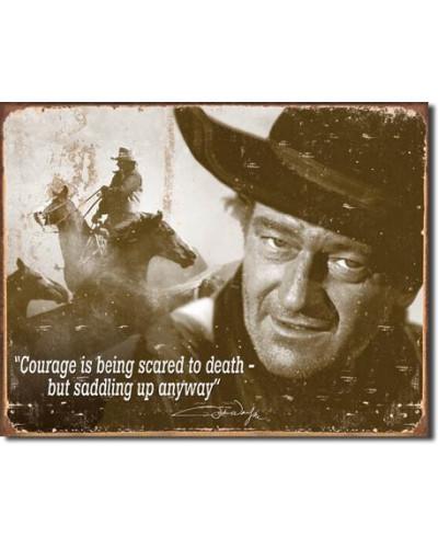 Plechová cedule John Wayne - Courage 40 cm x 32 cm