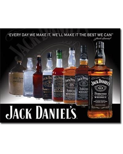 Plechová cedule Jack Daniels - Bottles 32cm x 40cm