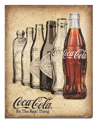 Plechová cedule Coca Cola The Real Thing 32cm x 40 cm