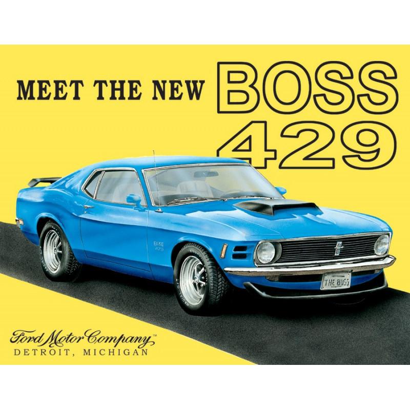 Plechová cedule Ford Mustang Boss 40 cm x 32 cm