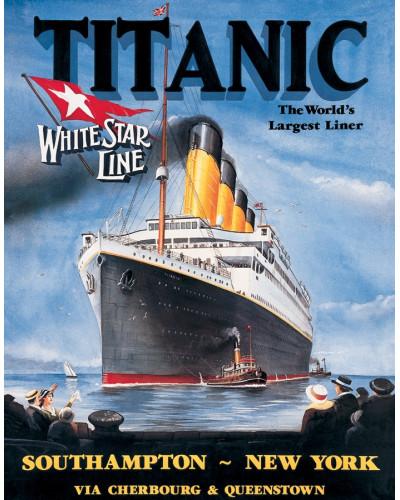 Plechová cedule Titanic White Star 32 cm x 40 cm
