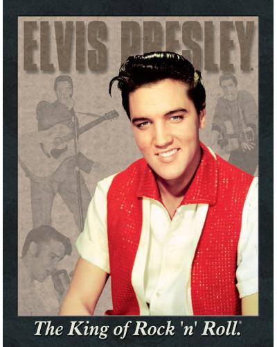 Plechová cedule Elvis Portrait 32 cm x 40 cm