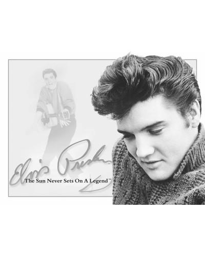 Plechová cedule Elvis - Sun Never Sets 32cm x 40 cm