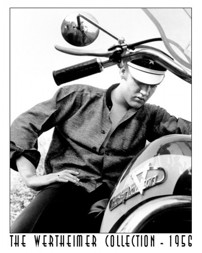 Plechová cedule Elvis on Bike 32 cm x 40 cm