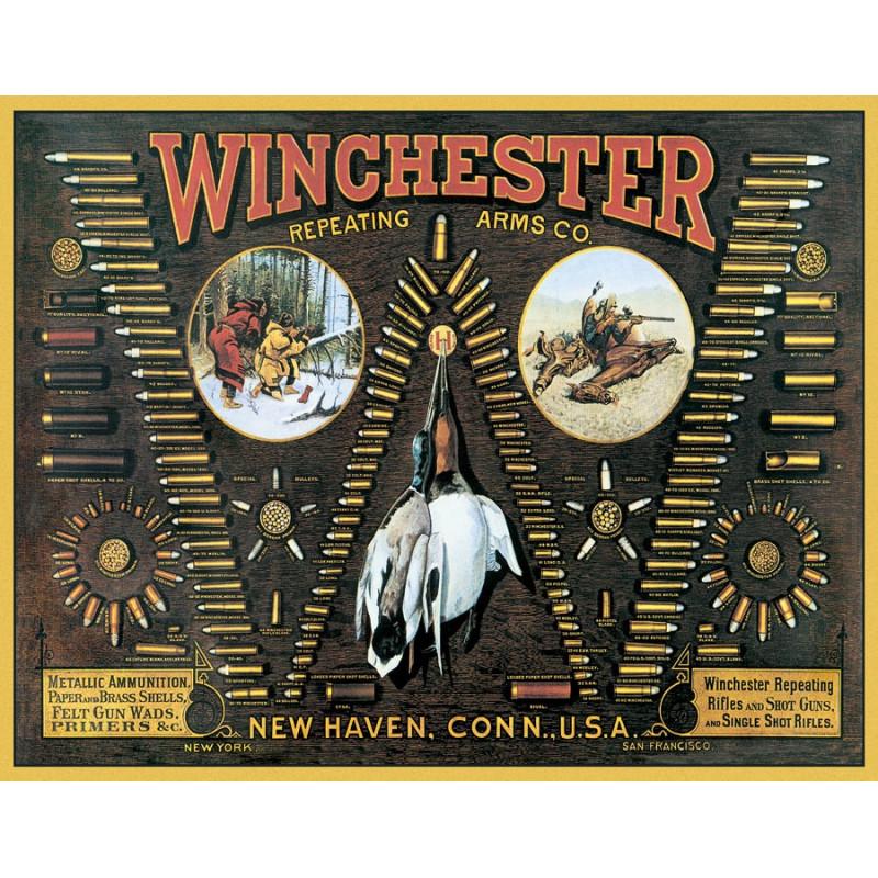 Plechová cedule Winchester Bullet Board 32 cm x 40 cm