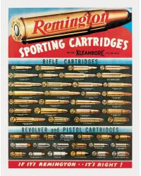 Plechová cedule Remington Cartridges 32 cm x 40 cm