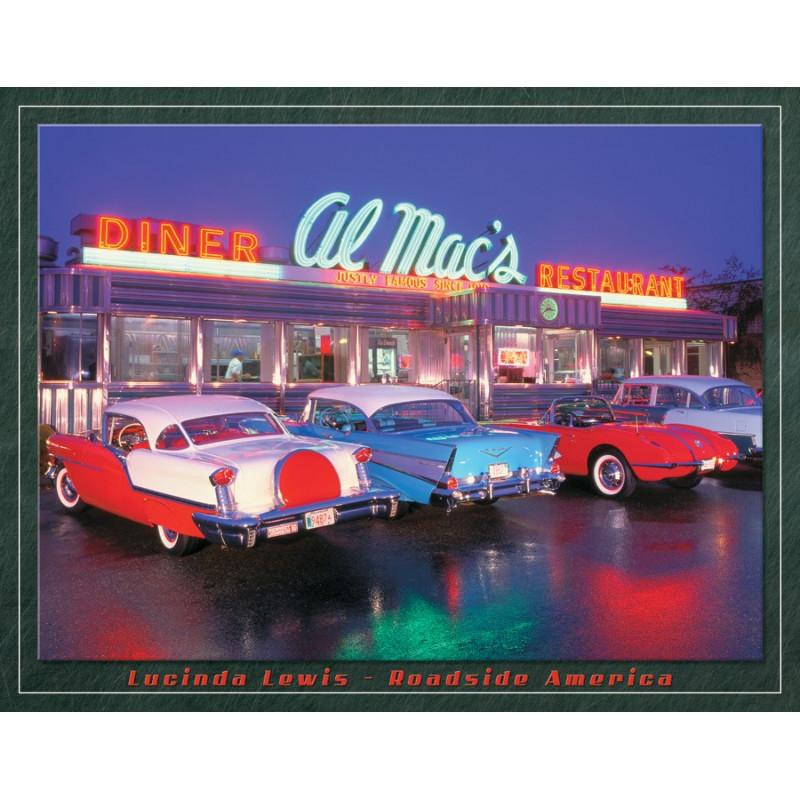 Plechová cedule Lewis - Al Mac Diner 32 cm x 40 cm