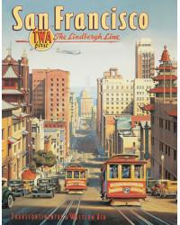 Plechová cedule San Francisco 32 cm x 40 cm