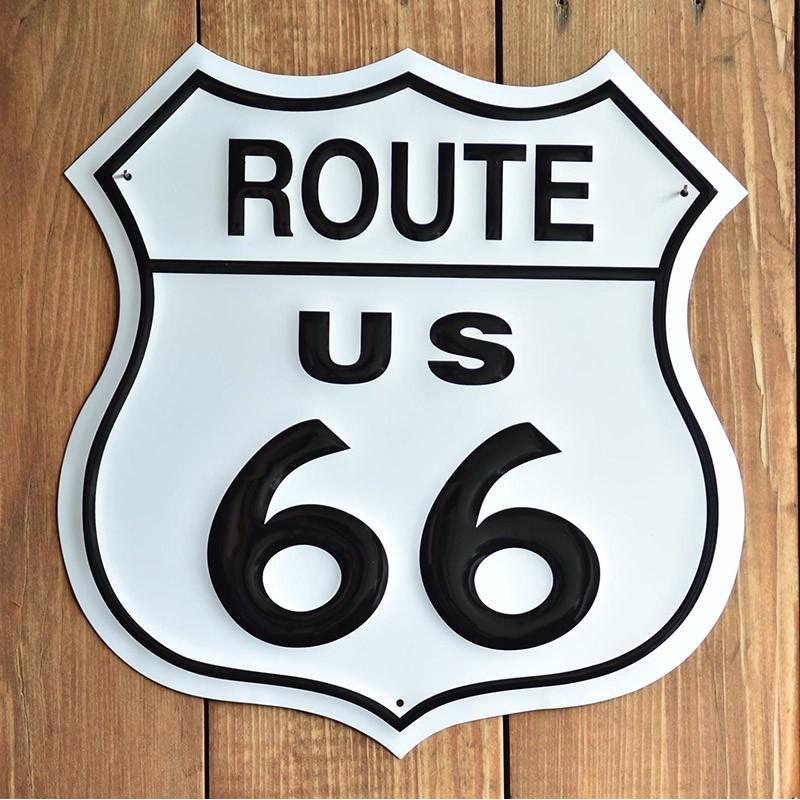 Plechová cedule Route 66 Shield 27 cm x 27 cm p