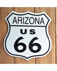 Plechová cedule Route 66 Arizona Shield 27 cm x 27 cm p