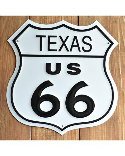 Plechová cedule Route 66 Texas Shield 27 cm x 27 cm p