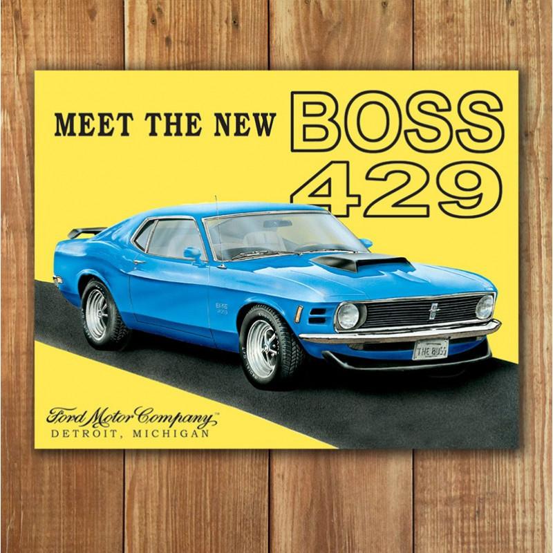 Plechová cedule Ford Mustang Boss 40 cm x 32 cm p
