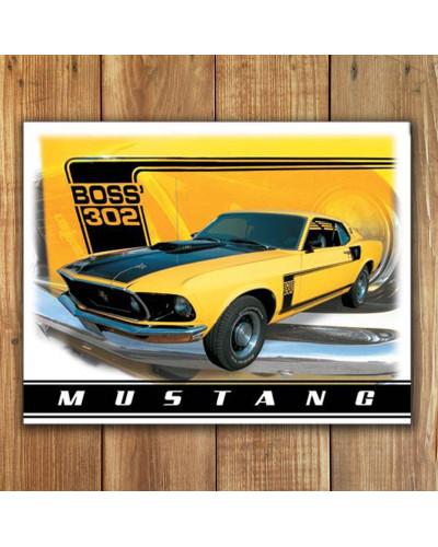 Plechová cedule Ford Mustang Boss 302