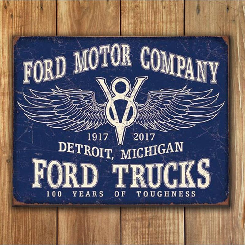 Plechová cedule Ford Trucks 100 years p