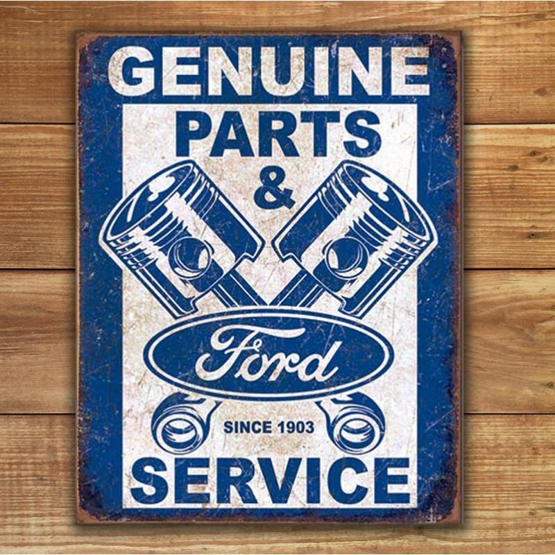 Plechová cedule Ford Service - Pistons 40 cm x 32 cm p