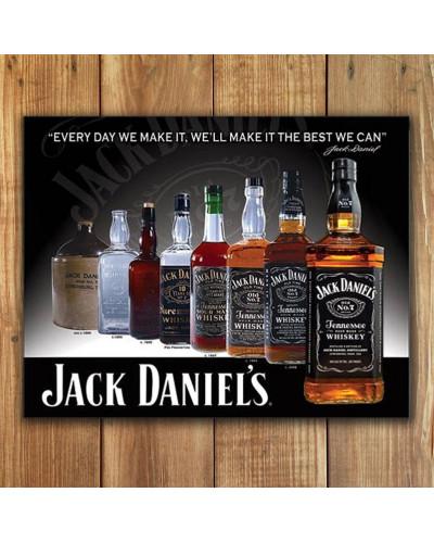 Plechová cedule Jack Daniels - Bottles 32cm x 40cm w