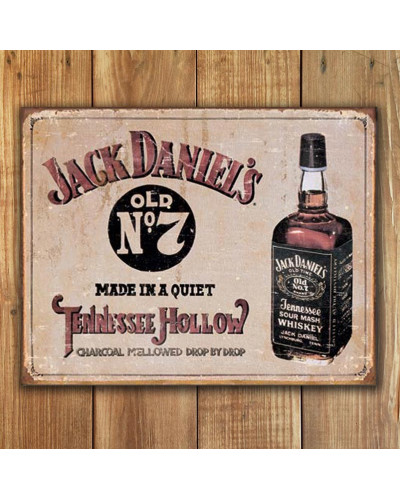 Plechová cedule Jack Daniels Tennessee Hollow 40cm x 32cm