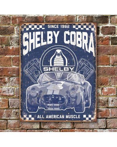 Plechová cedule Shelby - American Muscle 40 cm x 32 cm w