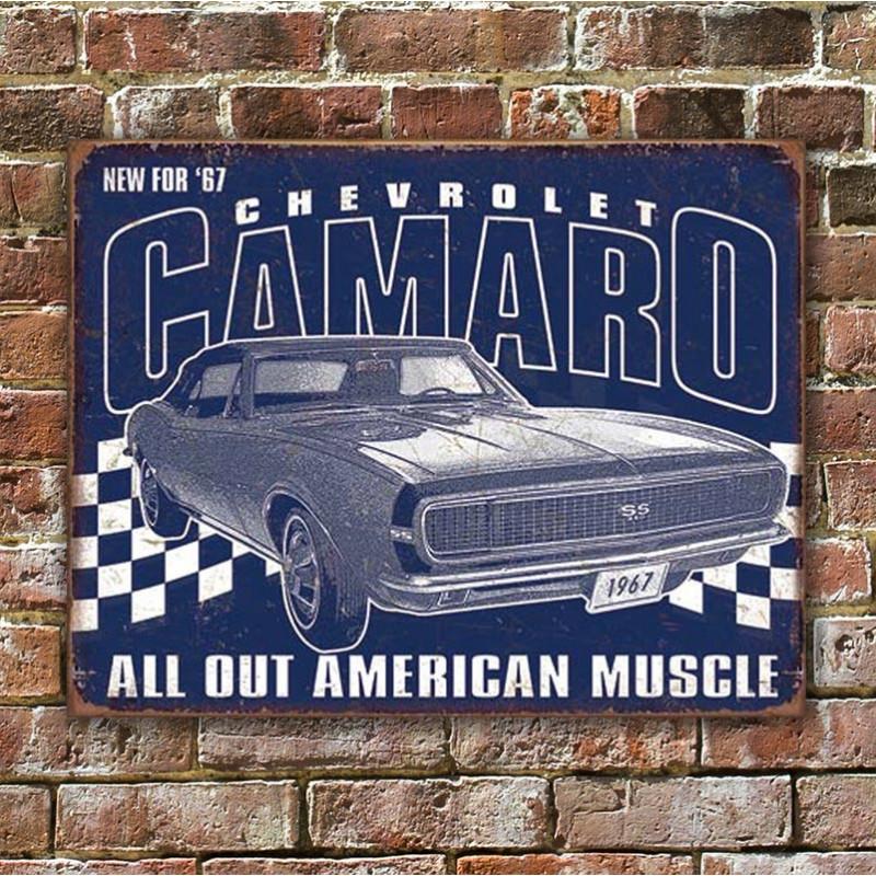 Plechová cedule Camaro - 1967 Muscle 40 cm x 32 cm w