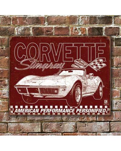 Plechová cedule Corvette - 69 StingRay 40 cm x 32 cm w