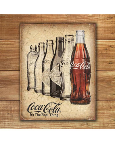 Plechová cedule Coca Cola The Real Thing 32cm x 40 cm w