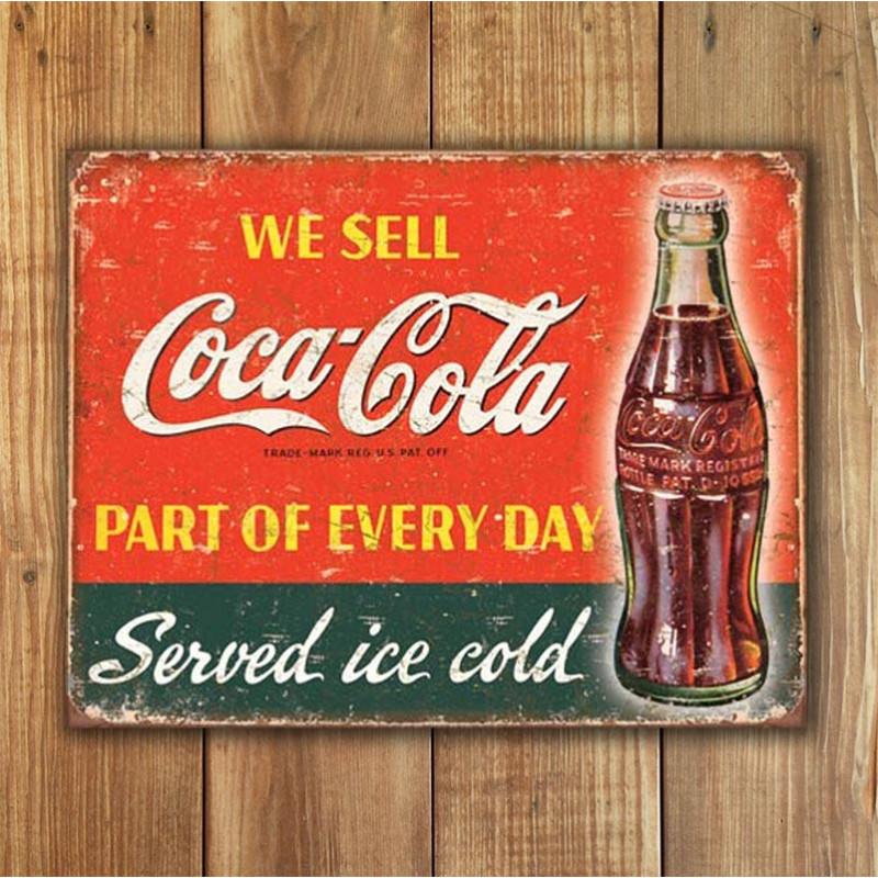 Plechová cedule Coca Cola - Part of Every Day 32cm x 40 cm w