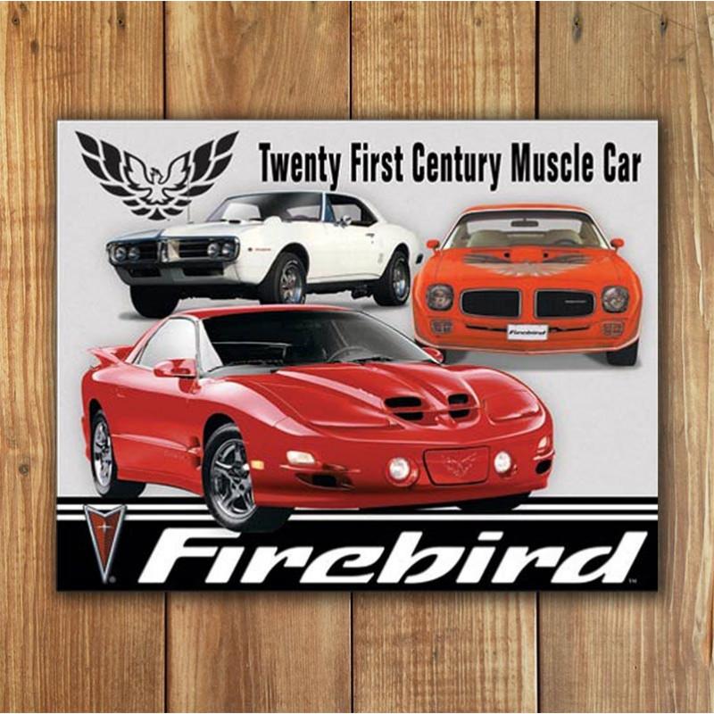 Plechová cedule Pontiac Firebird Tribute 40 cm x 32 cm w