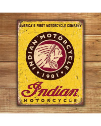 Plechová cedule Indian Motorcycles Since 1901 40 cm x 32 cm w