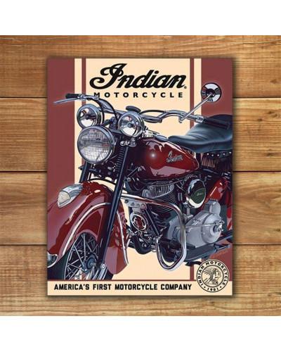 Plechová cedule Indian - 1948 Chief 40 cm x 32 cm w
