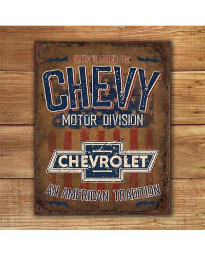 Plechová cedule Chevy - American Tradition  40 cm x 32 cm