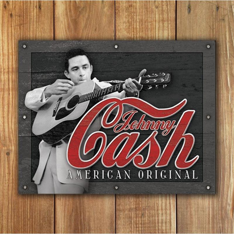Plechová cedule Johnny Cash - American Original 32cm x 40cm w