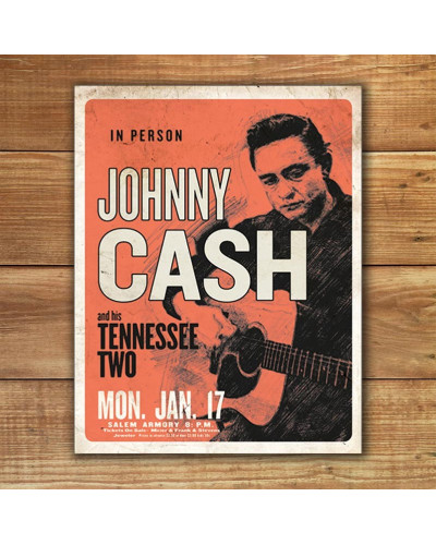 Plechová cedule Johnny Cash and His Tennessee Two 32cm x 40cm