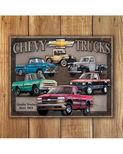 Plechová cedule Chevy Trucks Tribute 40 cm x 32 cm