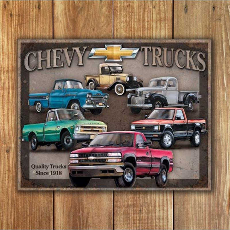 Plechová cedule Chevy Trucks Tribute 40 cm x 32 cm w