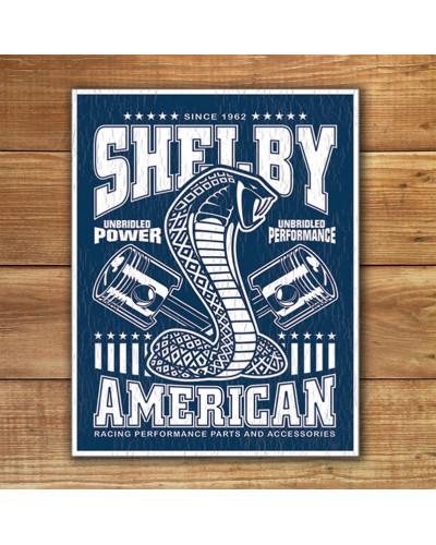 Plechová cedule Shelby - Unbridled 40 cm x 32 cm