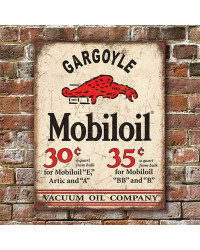 Plechová cedule Mobiloil Gargoyle 40 x 32 cm w