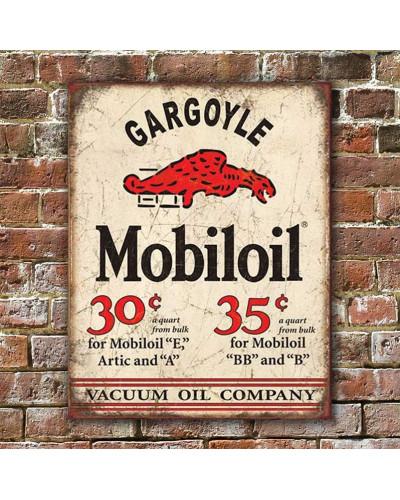 Plechová cedule Mobiloil Gargoyle 40 x 32 cm