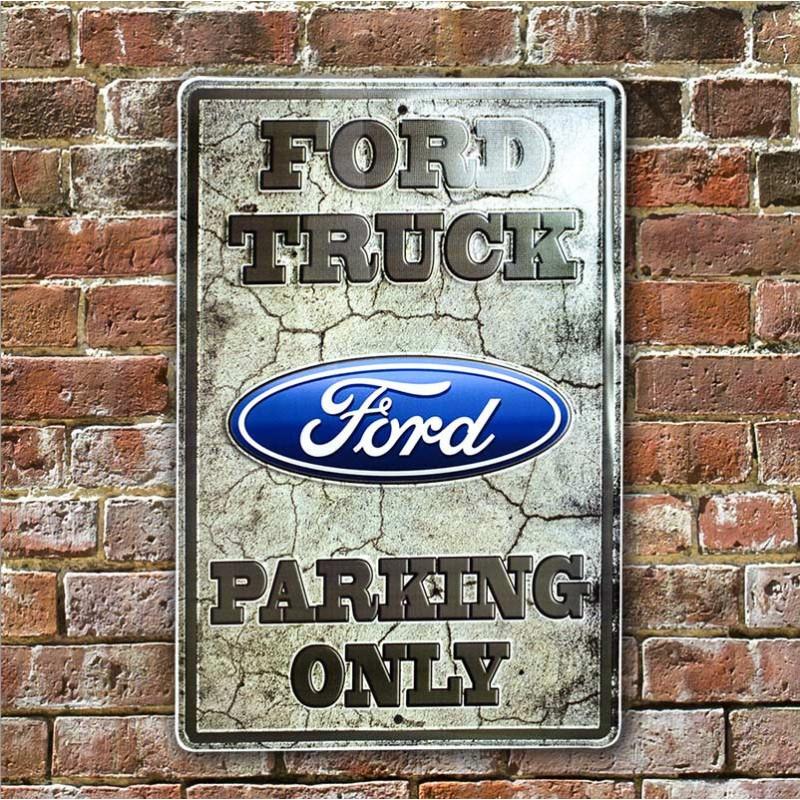 Plechová cedule Ford Truck NEW 30 cm x 45 cm w