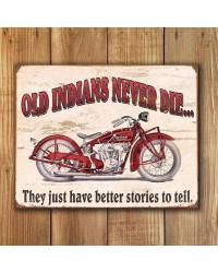 Plechová cedule Indian - Better Stories 40 cm x 32 cm w