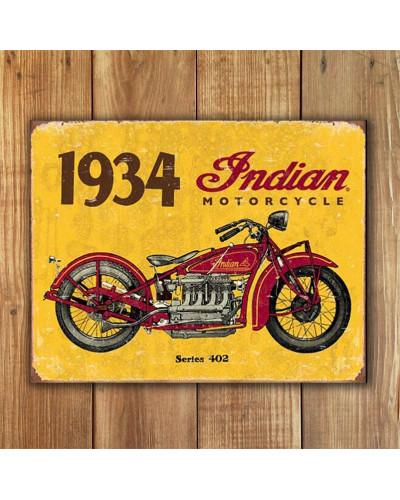 Plechová cedule 1934 Indian new 40 cm x 32 cm w